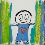 blågrøn dreng
