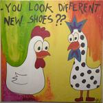 You look diferent new shoes